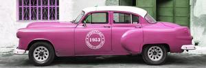 Cuba Fuerte Collection Panoramic - Pink Pontiac 1953 Original Classic Car by Philippe Hugonnard