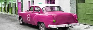 Cuba Fuerte Collection Panoramic - Pink Taxi Pontiac 1953 by Philippe Hugonnard