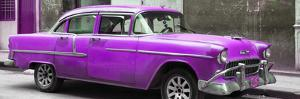 Cuba Fuerte Collection Panoramic - Purple Chevy by Philippe Hugonnard