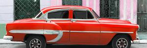 Cuba Fuerte Collection Panoramic - Red Bel Air Classic Car by Philippe Hugonnard