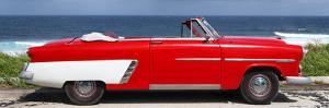 Cuba Fuerte Collection Panoramic - Red Cabriolet Car by Philippe Hugonnard