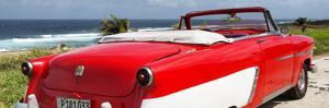 Cuba Fuerte Collection Panoramic - Red Cabriolet Classic Car by Philippe Hugonnard