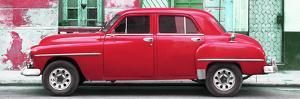 Cuba Fuerte Collection Panoramic - Red Classic American Car by Philippe Hugonnard
