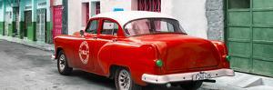 Cuba Fuerte Collection Panoramic - Red Taxi Pontiac 1953 by Philippe Hugonnard