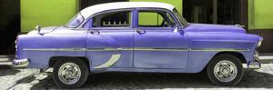 Cuba Fuerte Collection Panoramic - Retro Mauve Car by Philippe Hugonnard