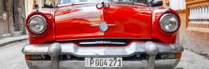 Cuba Fuerte Collection Panoramic - Retro Red Car in Havana by Philippe Hugonnard