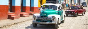 Cuba Fuerte Collection Panoramic - Taxis in Trinidad by Philippe Hugonnard