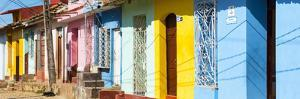 Cuba Fuerte Collection Panoramic - Trinidad Colorful Street Scene II by Philippe Hugonnard
