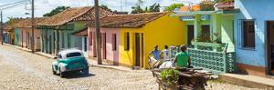 Cuba Fuerte Collection Panoramic - Trinidad Colorful Street Scene IV by Philippe Hugonnard