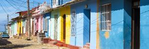 Cuba Fuerte Collection Panoramic - Trinidad Colorful Street Scene by Philippe Hugonnard