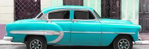 Cuba Fuerte Collection Panoramic - Turquoise Bel Air Classic Car by Philippe Hugonnard