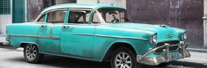 Cuba Fuerte Collection Panoramic - Turquoise Chevy by Philippe Hugonnard