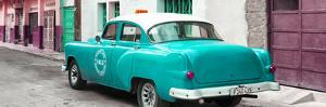 Cuba Fuerte Collection Panoramic - Turquoise Taxi Pontiac 1953 by Philippe Hugonnard