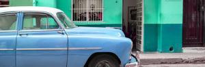 Cuba Fuerte Collection Panoramic - Vintage Blue Car of Havana by Philippe Hugonnard