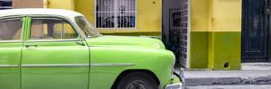 Cuba Fuerte Collection Panoramic - Vintage Green Car of Havana by Philippe Hugonnard