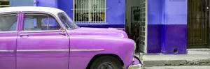 Cuba Fuerte Collection Panoramic - Vintage Hot Pink Car of Havana by Philippe Hugonnard