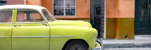 Cuba Fuerte Collection Panoramic - Vintage Lime Green Car of Havana by Philippe Hugonnard