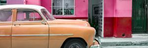 Cuba Fuerte Collection Panoramic - Vintage Orange Car of Havana by Philippe Hugonnard
