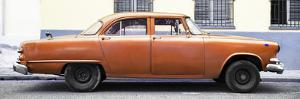 Cuba Fuerte Collection Panoramic - Vintage Orange Car by Philippe Hugonnard