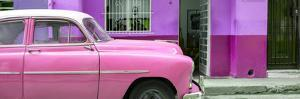 Cuba Fuerte Collection Panoramic - Vintage Pink Car of Havana by Philippe Hugonnard