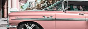 """Cuba Fuerte Collection Panoramic - Vintage Pink Car """"Streetmachine"""" by Philippe Hugonnard"""