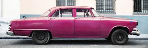 Cuba Fuerte Collection Panoramic - Vintage Pink Car by Philippe Hugonnard