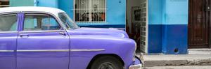Cuba Fuerte Collection Panoramic - Vintage Purple Car of Havana by Philippe Hugonnard