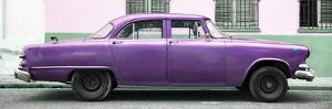 Cuba Fuerte Collection Panoramic - Vintage Purple Car by Philippe Hugonnard