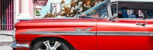 """Cuba Fuerte Collection Panoramic - Vintage Red Car """"Streetmachine"""" by Philippe Hugonnard"""