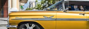 """Cuba Fuerte Collection Panoramic - Vintage Yellow Car """"Streetmachine"""" by Philippe Hugonnard"""