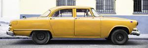 Cuba Fuerte Collection Panoramic - Vintage Yellow Car by Philippe Hugonnard
