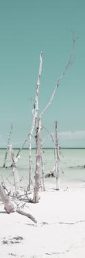 Cuba Fuerte Collection Panoramic - Wild White Sand Beach II - Pastel Turquoise by Philippe Hugonnard