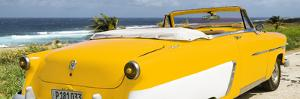 Cuba Fuerte Collection Panoramic - Yellow Cabriolet Classic Car by Philippe Hugonnard