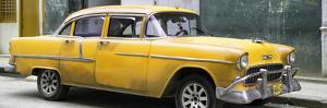 Cuba Fuerte Collection Panoramic - Yellow Chevy by Philippe Hugonnard