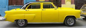 Cuba Fuerte Collection Panoramic - Yellow Taxi of Havana by Philippe Hugonnard