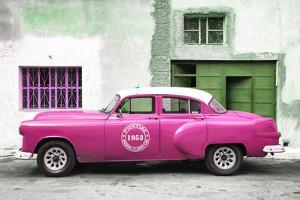 Cuba Fuerte Collection - Pink Pontiac 1953 Original Classic Car by Philippe Hugonnard