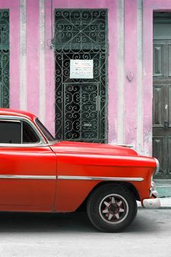 Cuba Fuerte Collection - Red Classic Car by Philippe Hugonnard