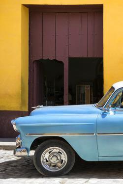 Cuba Fuerte Collection - Retro Blue Car II by Philippe Hugonnard