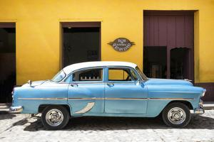 Cuba Fuerte Collection - Retro Blue Car by Philippe Hugonnard
