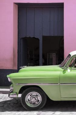 Cuba Fuerte Collection - Retro Lime Green Car II by Philippe Hugonnard