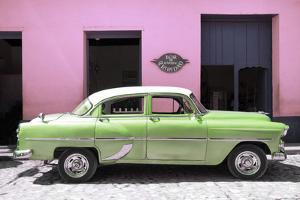 Cuba Fuerte Collection - Retro Lime Green Car by Philippe Hugonnard