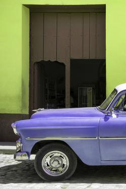 Cuba Fuerte Collection - Retro Mauve Car II by Philippe Hugonnard