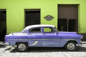 Cuba Fuerte Collection - Retro Mauve Car by Philippe Hugonnard