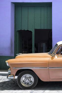 Cuba Fuerte Collection - Retro Orange Car II by Philippe Hugonnard