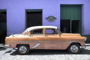 Cuba Fuerte Collection - Retro Orange Car by Philippe Hugonnard