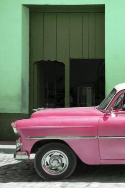 Cuba Fuerte Collection - Retro Pink Car II by Philippe Hugonnard