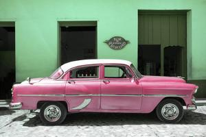 Cuba Fuerte Collection - Retro Pink Car by Philippe Hugonnard