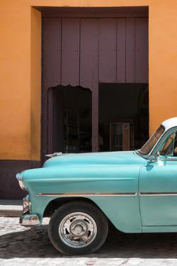 Cuba Fuerte Collection - Retro Turquoise Car II by Philippe Hugonnard