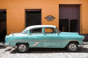 Cuba Fuerte Collection - Retro Turquoise Car by Philippe Hugonnard