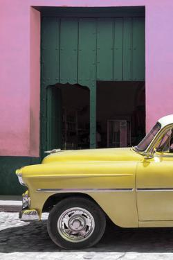 Cuba Fuerte Collection - Retro Yellow Car II by Philippe Hugonnard